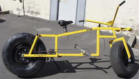 Bike with Car Wheels