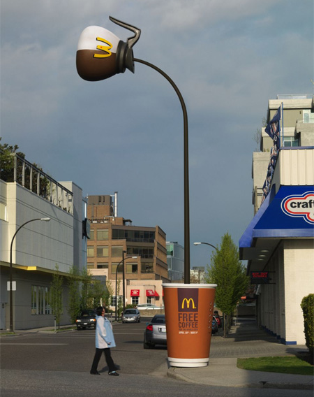 McDonalds Free Coffee Pole