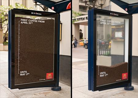 McDonalds Free Coffee Hourglass