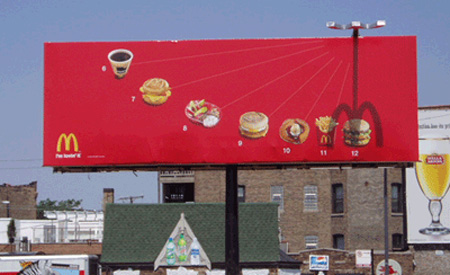 McDonalds Sundial Billboard
