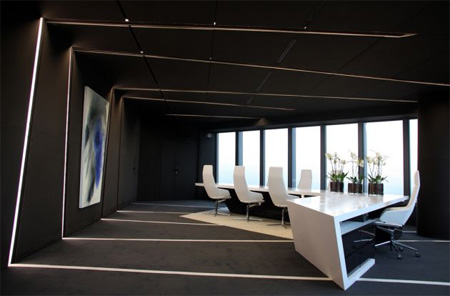 Office Design Interior on The Emphasis Was On Dark Tones  Grey Walls And Roof Were Combined With