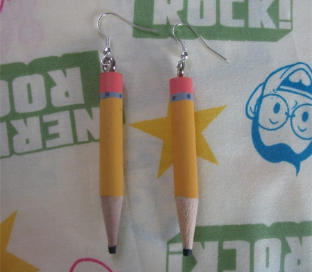 Earrings Pencils