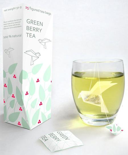 Sachet de thé en Origami