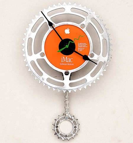 Bike Chain Wall Clock