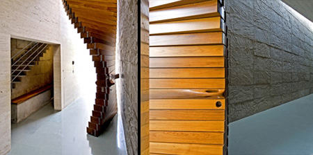 Curtain Door made from Wood