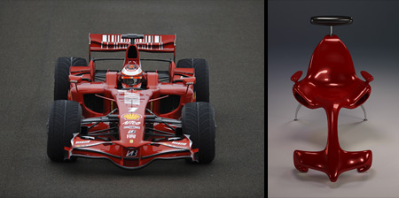 Formula 1 Car Inspired Chair