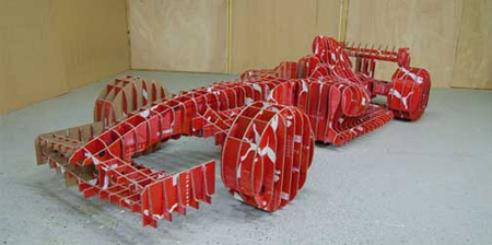 Formula 1 Car made from Shoe Boxes
