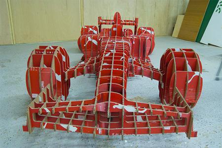 Formula 1 Car made out of Puma Shoe Boxes