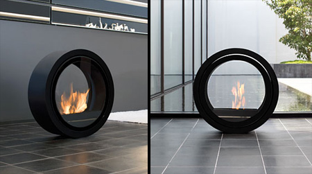 Rolling Fireplace