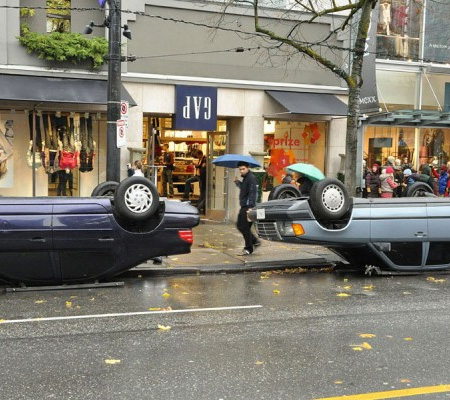 Upside Down Cars