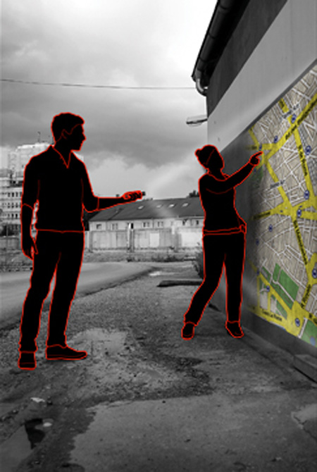 Flashlight Projector GPS Map