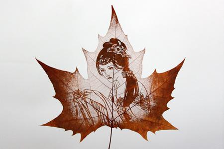 Amazing Leaf Carvings