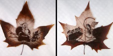 Real Leaf Carvings