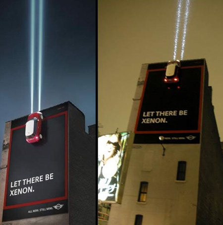 MINI Headlights Billboard