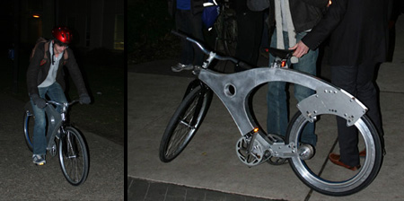 Spokeless Bicycle Prototype