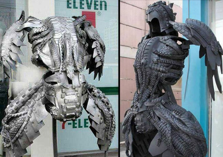 Armour Tire Sculpture
