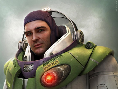 Untooned Buzz Lightyear