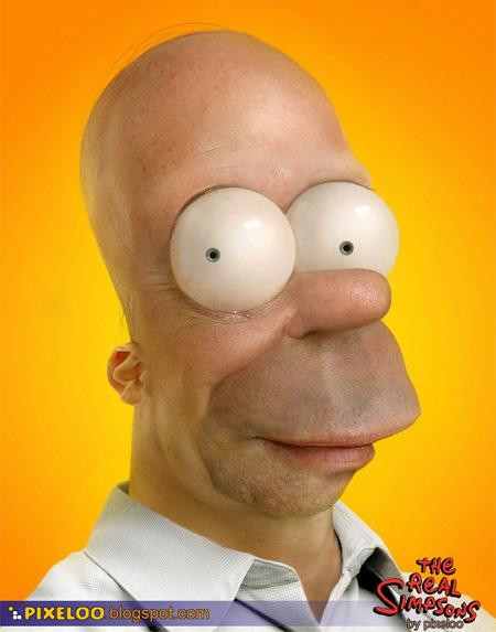 Untooned Homer Simpson