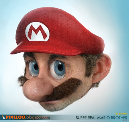 Untooned Mario