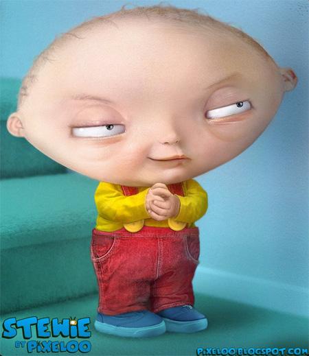 Untooned Stewie Griffin