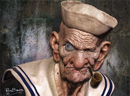 Untooned Popeye