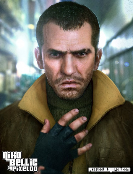 Untooned Niko Bellic