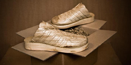 Hand Carved Wooden Sneakers