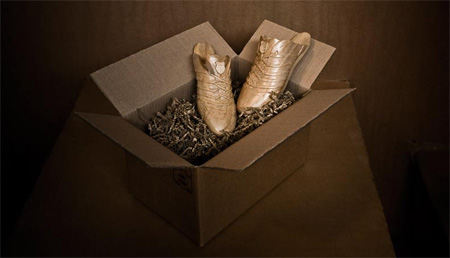 Sneakers made out of Wood