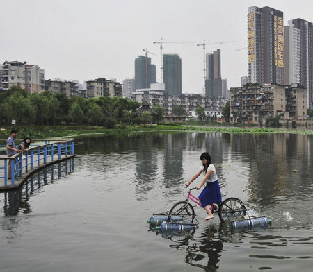 Bicycle Rides on Water