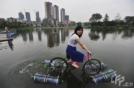 Homemade Amphibious Bike