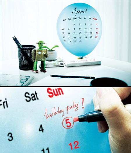 Balloon Calendar