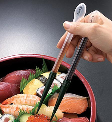 Sauce Dispensing Chopsticks