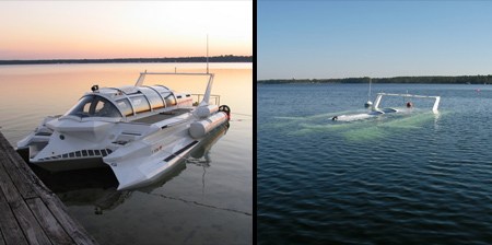 Speedboat Doubles as a Submarine