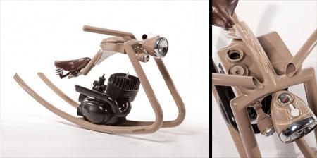 Motorcycle Inspired Rocking Horse