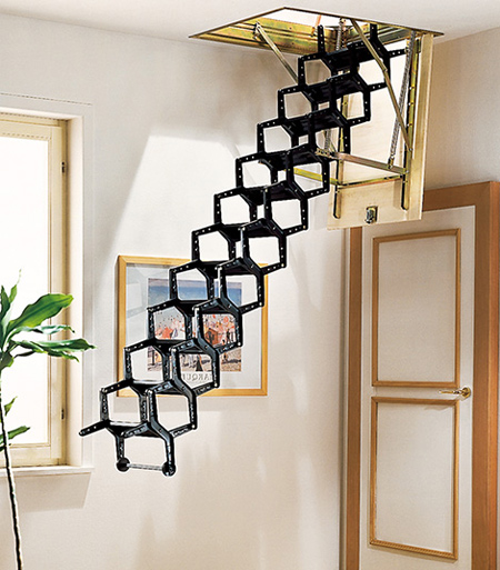 15 unique and creative staircases Motorized attic stairs