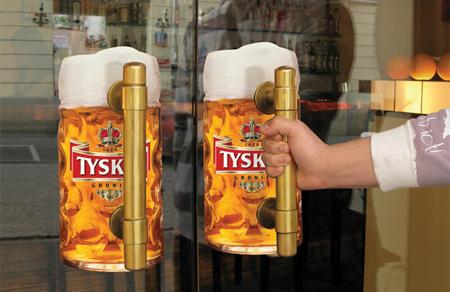 Beer Door Handle Sticker