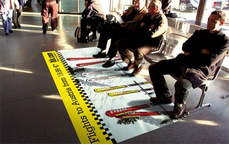 Ski Lift Floor Sticker