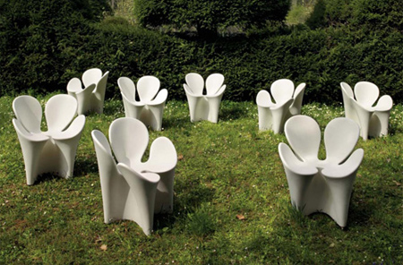 four leaf clover garden chairs by driade