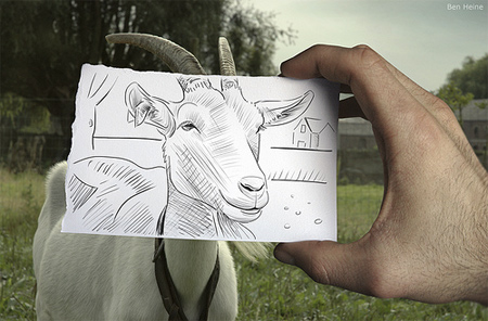 Ben Heine Drawings