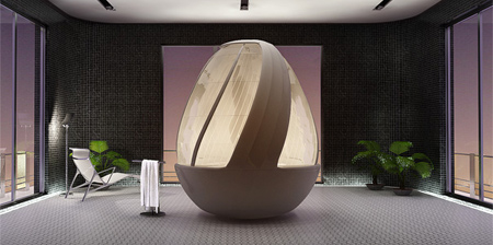 Egg Shaped Shower Concept