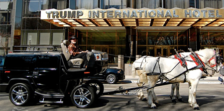 Hummer Turned Into a Horse Cart