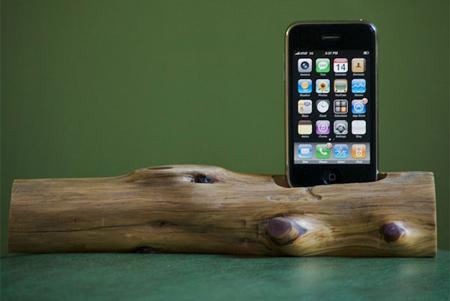 Wooden iPhone Dock