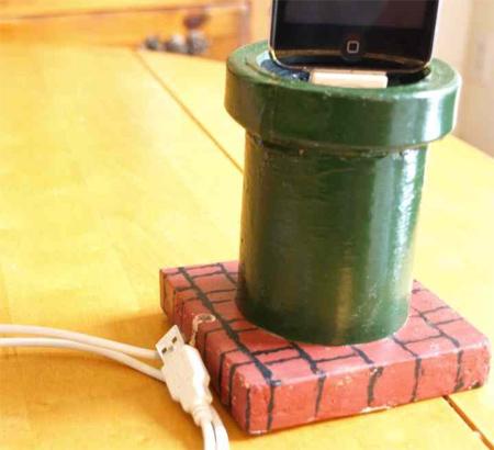 Mario Warp Pipe iPhone Dock