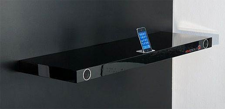 Bookshelf iPhone Dock