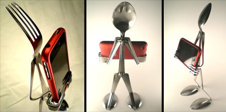 Spoon and Fork iPhone Stands
