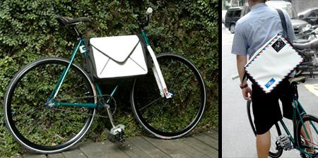 Envelope Inspired Messenger Bag