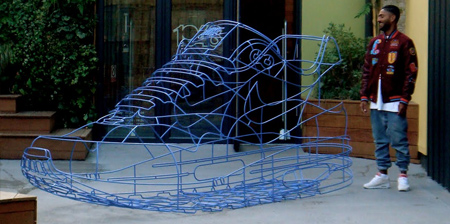 Nike Sneaker Wireframe Sculpture