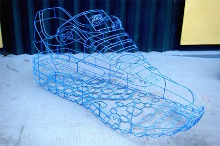 Nike Wireframe Sculpture