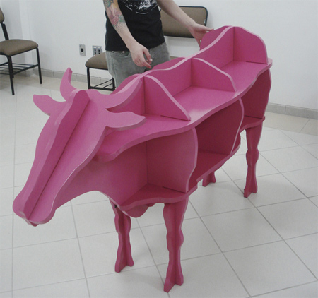 Cow Shaped Bookcase