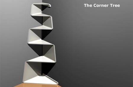 Corner Tree Bookshelf